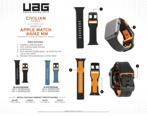 Dây UAG Civilian Strap cho Apple Watch 44mm